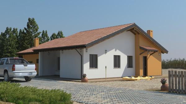 Casa in legno monopiano urb30 urban green for Impianto elettrico casa in legno